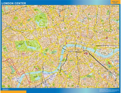 London downtown map