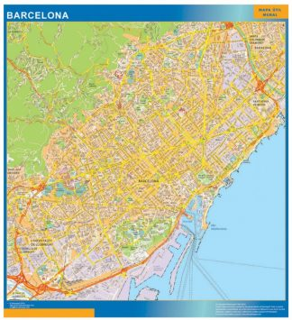 Map Of Barcelona Spain City Maps Of Spain Wall Maps Of Countries For Europe