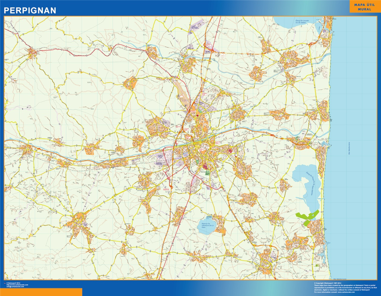 Perpignan Rail Maps and Stations from European Rail Guide |Perpignan France Map