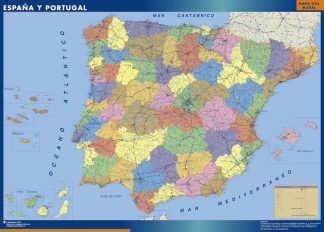Map of Spain Provincial