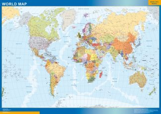 world wall map english