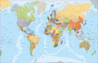 World map english